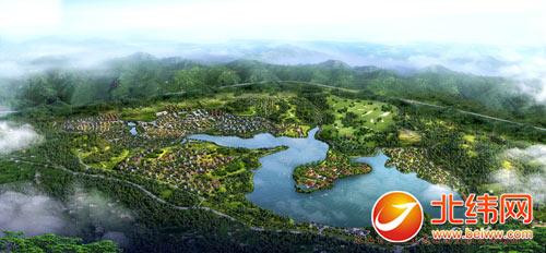百丈湖国际度假区鸟瞰图