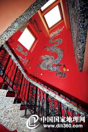 欧式房屋外观图棕红色屋顶