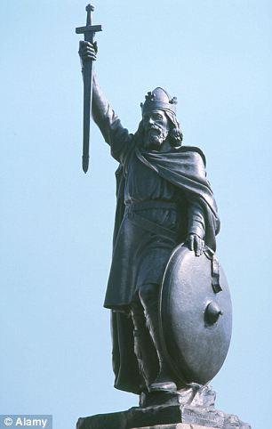 阿尔弗雷德/英国温彻斯特的阿尔弗雷德大帝雕像