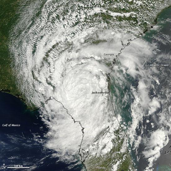 每日卫星照:美国丽贝尔热带气旋产生暴风雨(图)