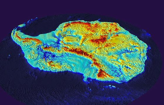 为止最详细的南极大陆地图