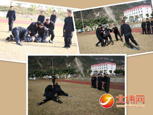 战训基地组织徒手防卫与控制培训
