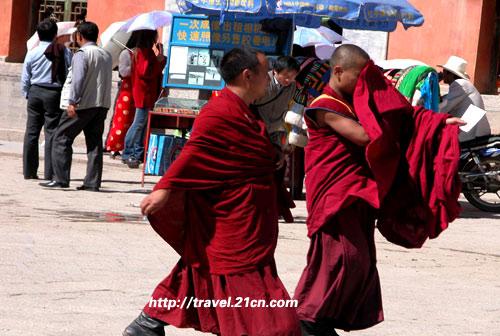 塔尔寺喇嘛:除了红袍,也许和我们一样